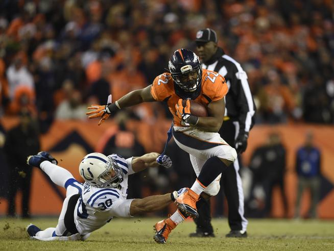 Denver Broncos vs. Indianapolis Colts in an AFC divisional playoff game