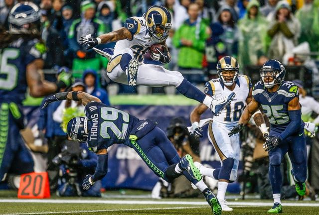 Gurley leap vs Seahawks